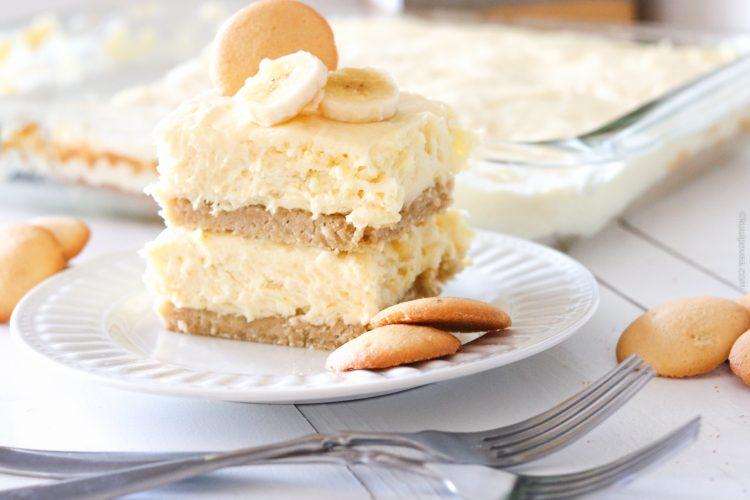 Banana Cream Cheesecake Blondies