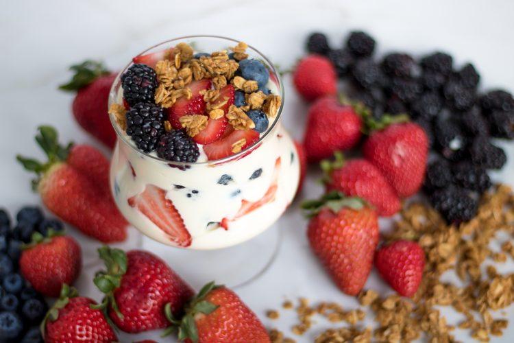 Yogurt Cream and Berries