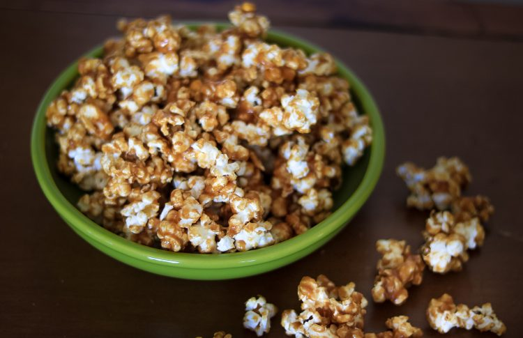 Soft and Chewy Caramel Popcorn