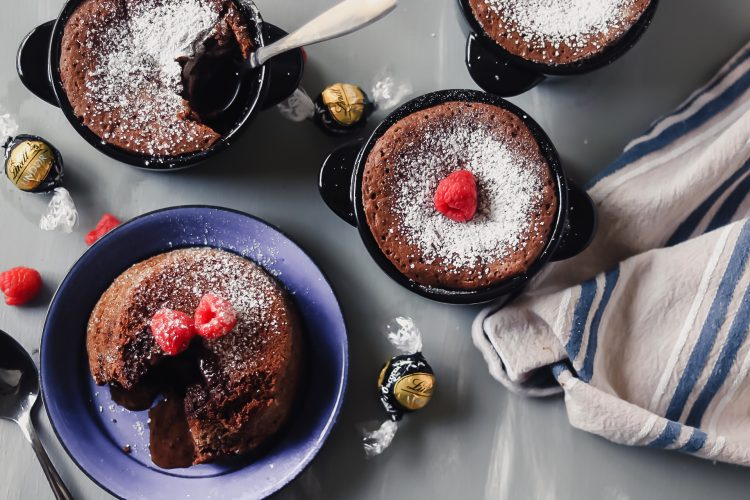 Molten Lava Cakes with Lindor Truffle Center