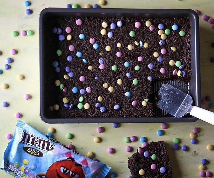 Easter M&M Brownies