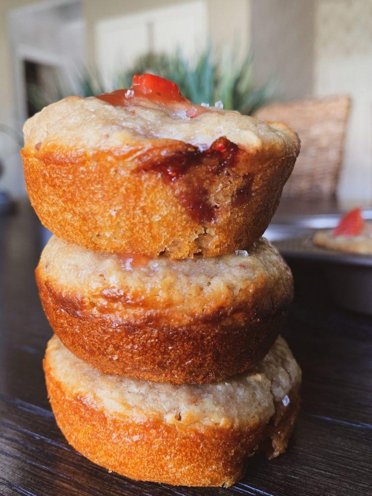 Honey Strawberry Muffins