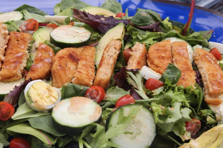 Summer Salad with Honey BBQ Dressing